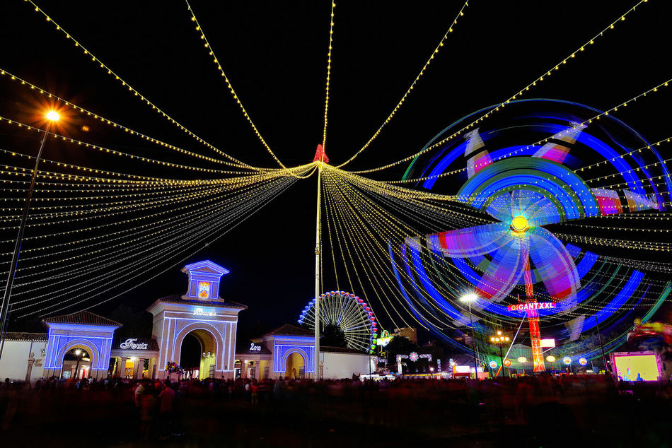 Albacete Feria De Albacete FeriaAlbafoto Lightpainting