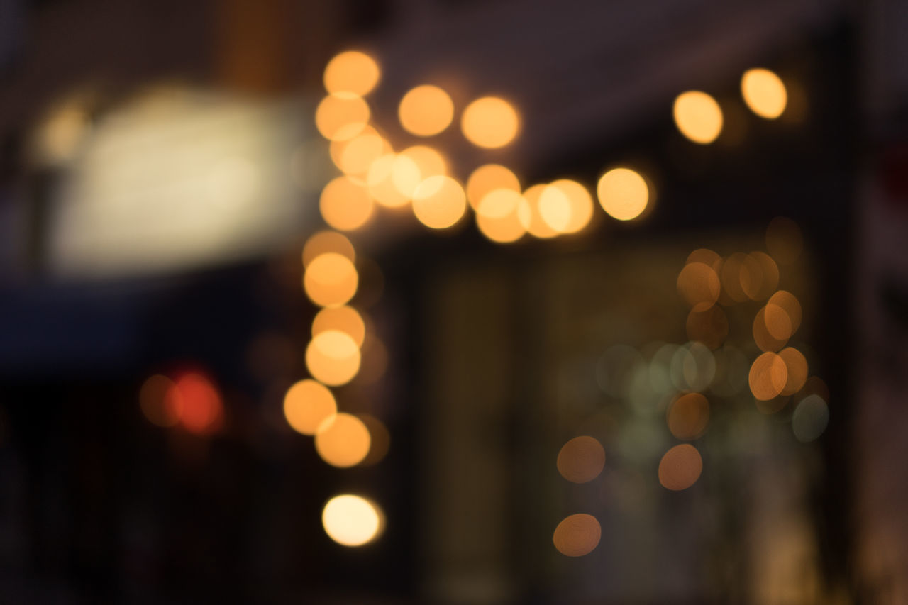 Backgrounds Bokeh Christmas Christmas Christmas Decoration Christmas Lights Christmas Lights City Close-up Defocused Full Frame Illuminated Light Effect Lighting Equipment Night Nightlights No People Outdoors Patterns Wintertime