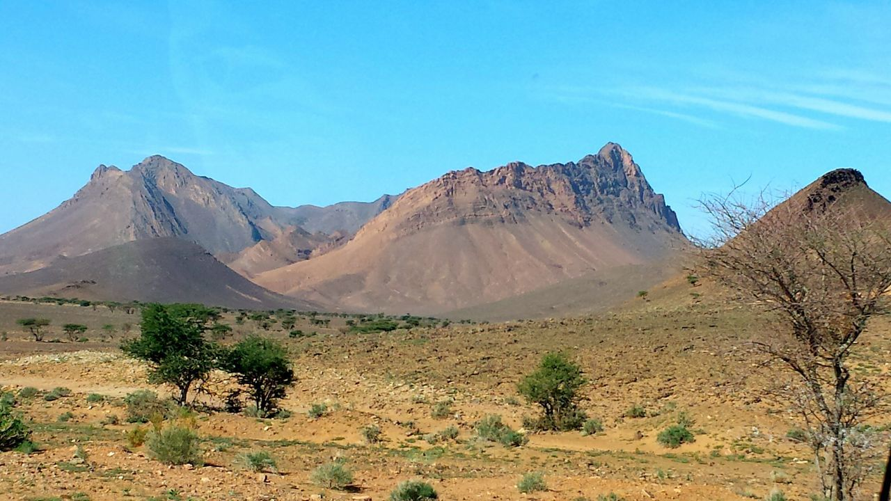 From A Bus Window Mountains And Sky Morocco Round Trip Impressive Locations Beautiful Nature Colourful World Capture The Moment. stone Deserts Around The World