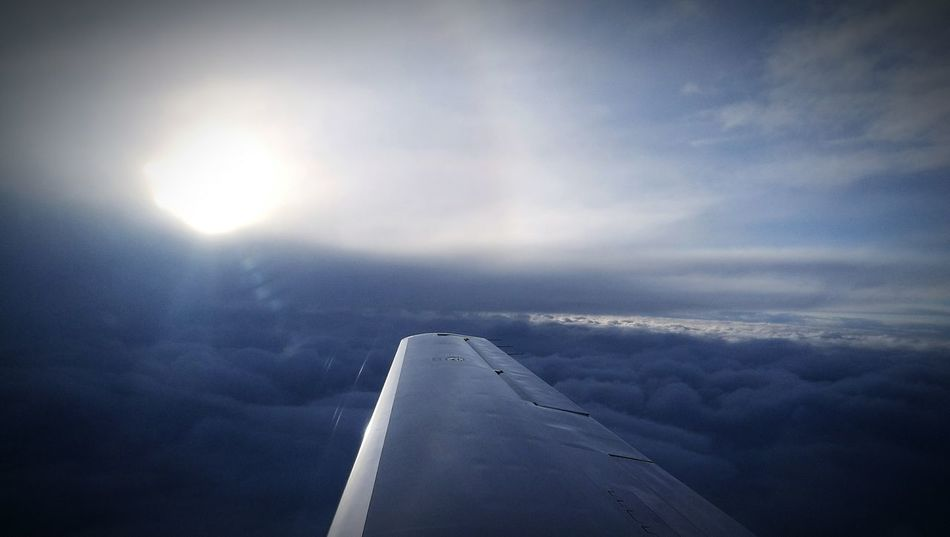 On The Plane ✈ Above The Clouds