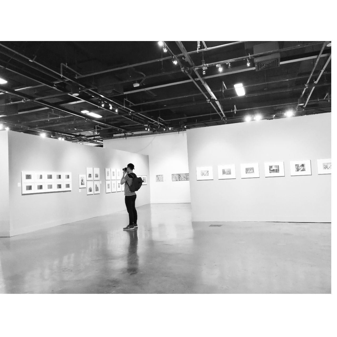 One eye see, the orther feels. Art is all around.☺ Art Gallery Art Exhibition Photoexhibition Imagination See Feel Soul Black&white Monochrome Peaceful Calm Relax Onefineday Enjoy