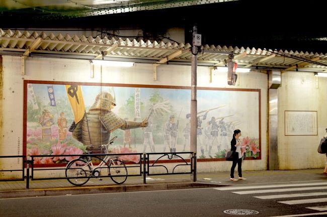 Warrior's shadows Japan Korean Town Mural Nightphotography Samurai Shin-Okubo ShinOkubo, Tokyo The Changing City Stifanibrothers Cities At Night The Street Photographer - 2016 EyeEm Awards Ultimate Japan
