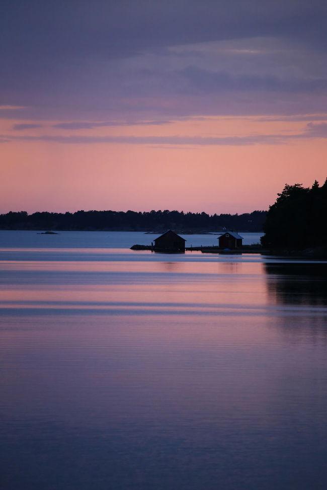 Calm Scene Evening Light Evening Sky Nature Finland Lake Magical Evening Colors Peaceful Place Purple Sky