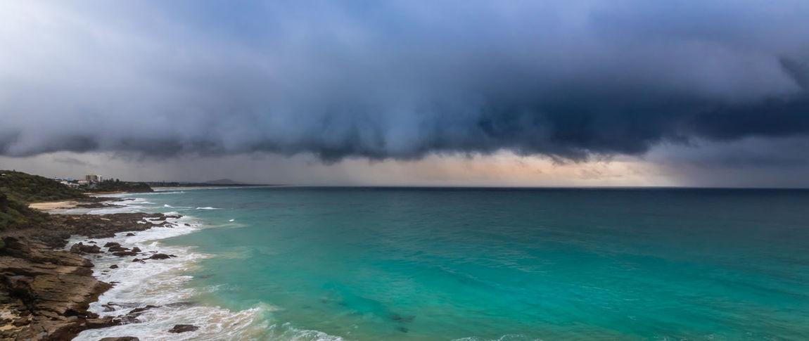 stormfront Beach Blue Sea Blue Sea And Clear Water Cloudporn Clouds Cloudscape Coastal Coastline Intense Landscape_photography Ocean Rainclouds Stormfront Tropical Storm Weather Weather System