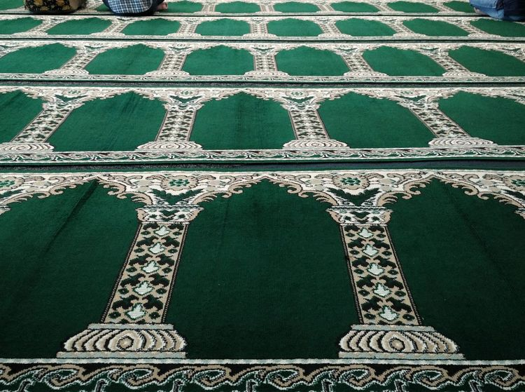 Friday prayer in an office. Religion And Beliefs Religious Place Religious Buildings Islam Moslem Activity Friday Prayer Praying Pray Carpets Rugs Moslem Indonesia EyeEm Indonesia