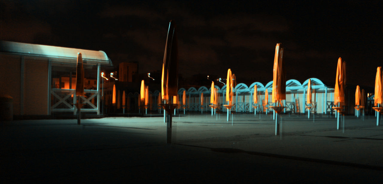night, illuminated, no people, outdoors, sky