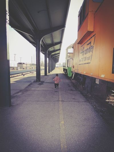 Architecture Transportation One Person Train Train Station Childhood Running Hideandseek