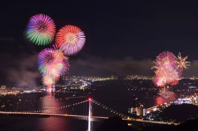 関門海峡 花火大会 Introducing Culture Of Japan Which Must Be Left To The Future…… 未来に残す日本の文化 Firework Nightphotography Reflection 下関