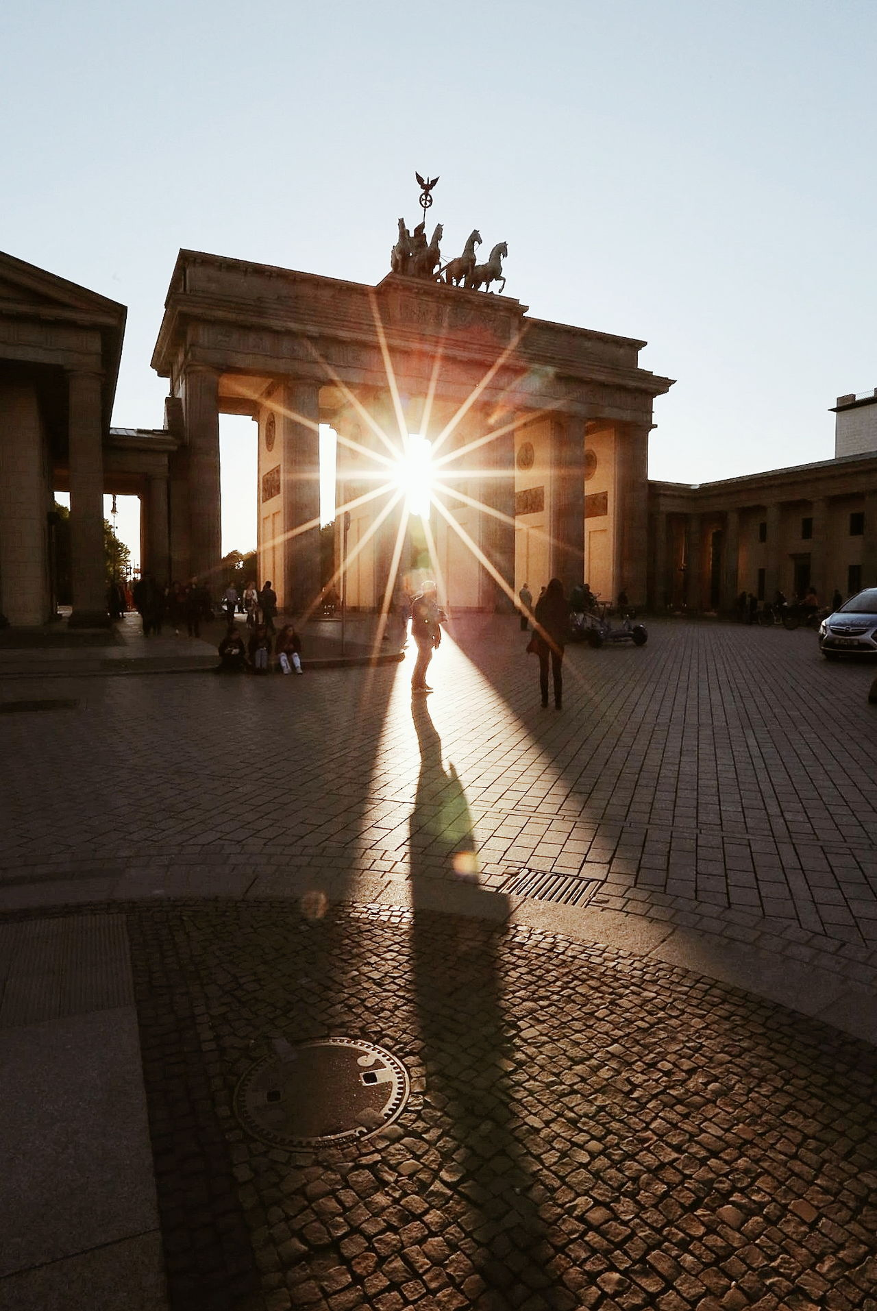 Travel Destinations History People Sunlight Adult City Gate Shadow Built Structure Architecture Adults Only Outdoors Full Length Sky Only Men Day Politics And Government City One Person Ancient Civilization One Man Only Sunlight Eye4photography  Berlin Photography