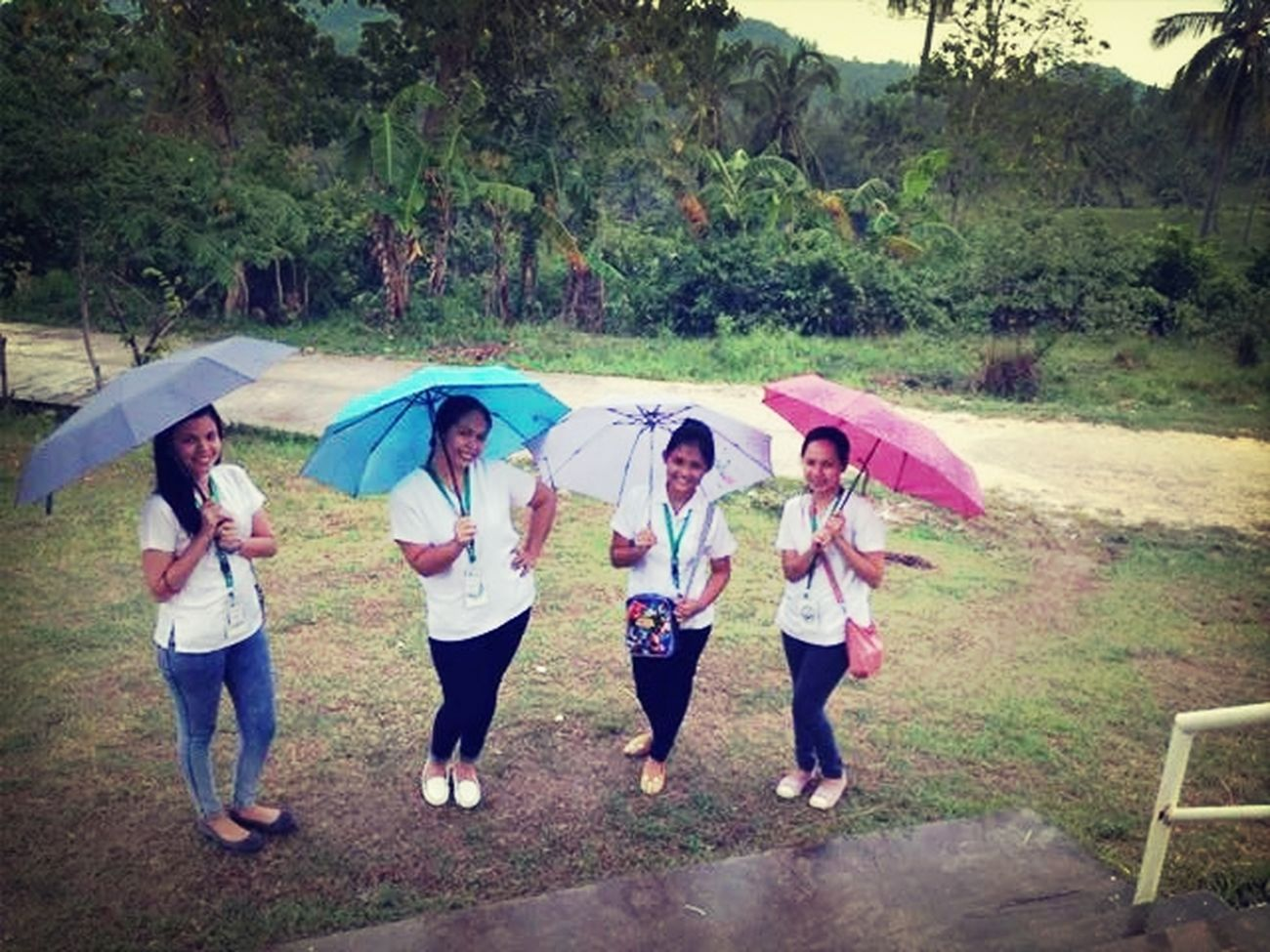 It's Business Time this is how we work,rain or shine always on the go. Mass Immunization Nurseslife Nurse_on_duty