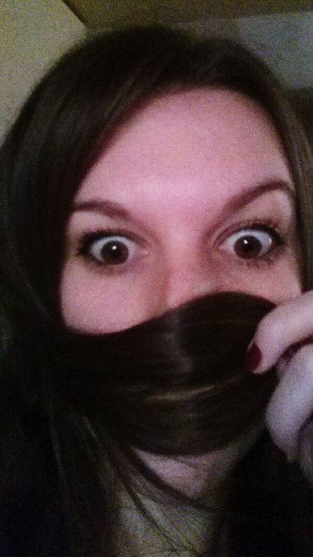 Crazy Face Crazy Hair Glossy Hair Long Hair Ninja Goodmorning :) Good Monday Monday Sucks  Brunette Woman Selfi