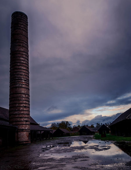 Dramatic Sky Brickworks Chimney Architecture History Clouds And Sky Colors Old Buildings Boom Belgium Dramatic Landscape