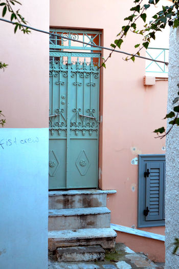 Anafiotika, Athens Athens City Architecture Athensvibe Building Exterior Built Structure Day Door Entrance Entry House No People Outdoors Steps Streetsofathens