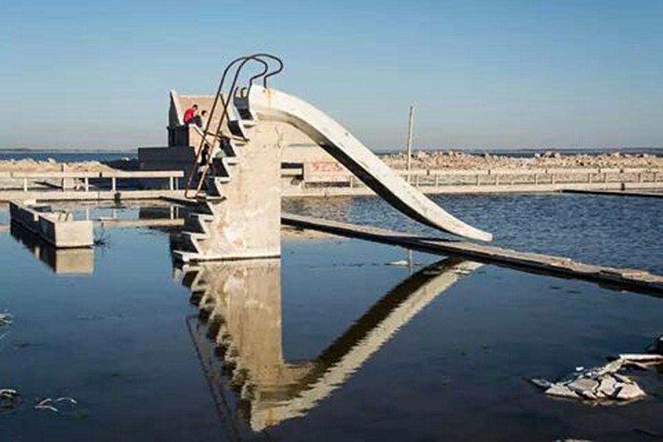 Stairways reflejos Escalera Agua Reflejos Epecuen
