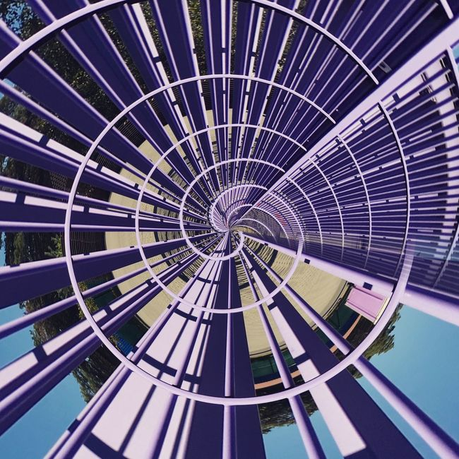 Directly Below Built Structure Architecture Repetition Full Frame Geometric Shape Day Circle Diminishing Perspective Multi Colored No People Concentric Coil Modern Colorful Urban Geometry Urbanphotography Urban Urban Exploration Architectural Feature Circle Modern Geometry Minimalism Architectural