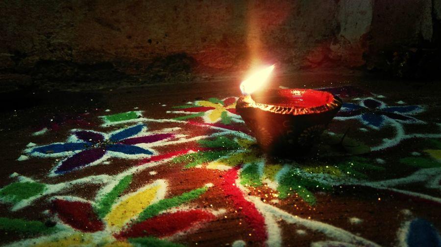 Lamps Colors Festivities India