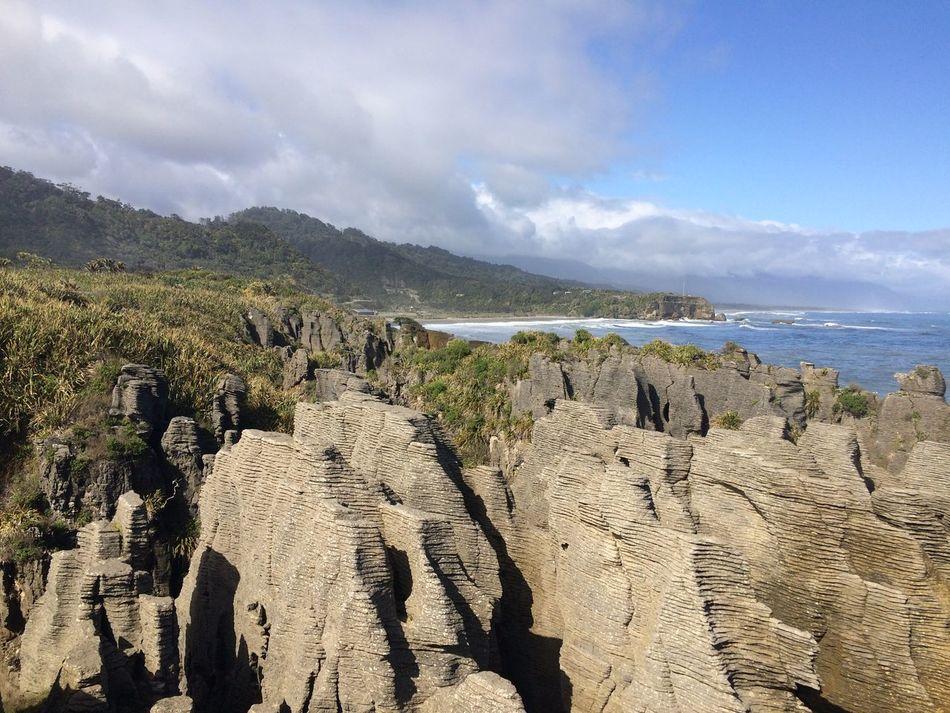 Pancakerocks Ocean Bluesky Mountain Sunnyday