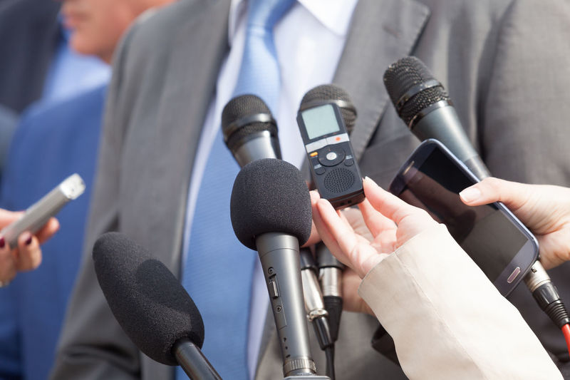 Media interview. News conference. Journalism. Business Event Journalist Politics Reporting Answering Broadcasting Business Person Communication Human Hand Information Journalism Journalist Media Media Interview Microphone News People Politician Politics Press Conference Public Publicity Reporter Speaking