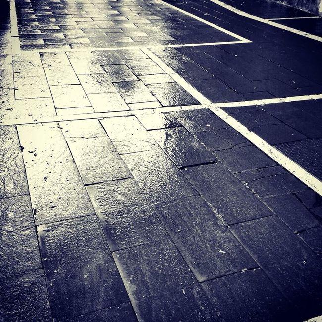 Streetphotography Streetphoto_bw Street Palombara Sabina Rain Blackandwhite After The Rain Reflection