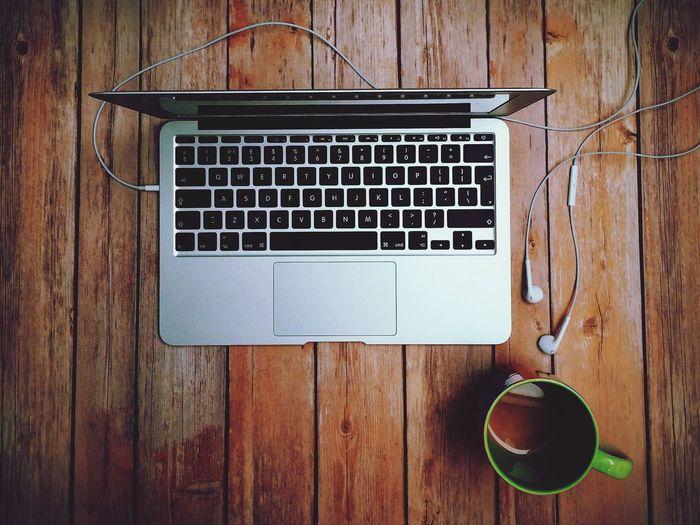 Mac, music, tea.