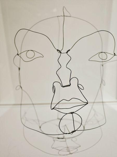 Exposition temporaire au Musee Soulages Rodez - Portrait Men Art Rodez Aveyron Museum Modernart Human Representation Face Creativity Arts Culture And Entertainment Sculpture Close-up Fil De Fer Shadow Shadows & Lights