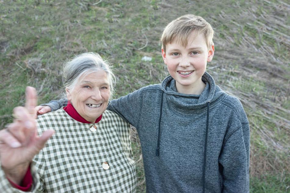 Beautiful stock photos of granny,  12-13 Years,  80 Plus Years,  Adult,  Arm Around
