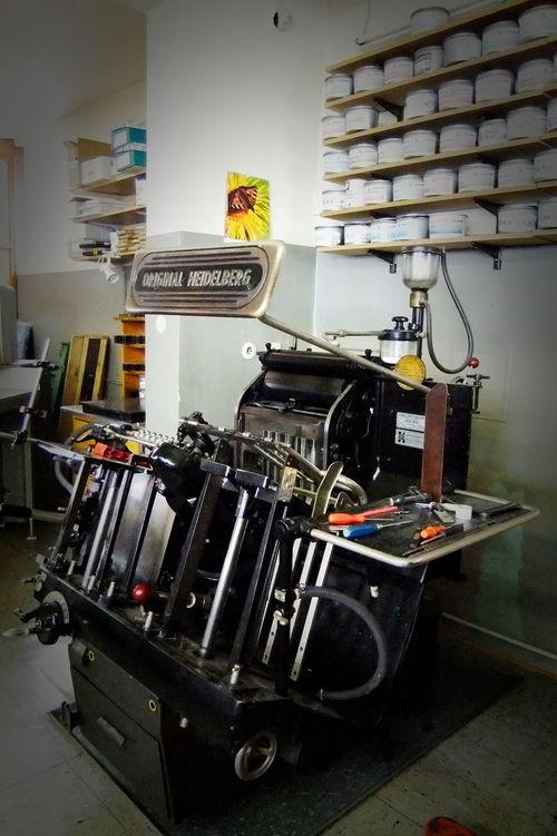 Antik Buchdruck-Maschine EyeEm Selects Heidelberger Drucktiegel Hochdruck Indoors  Machinery No People Technology