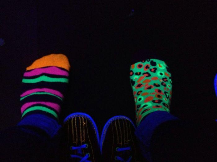 Bowling Tonight Thoe . My Socks Look Cutee !!