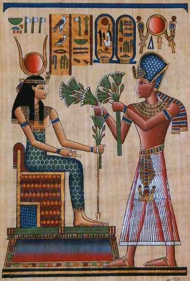 King ramses II making offering to the beautiful goddess hathor... Peace & love be upon Taking Photos Check This Out Wonderful :)  Photography #Egypt