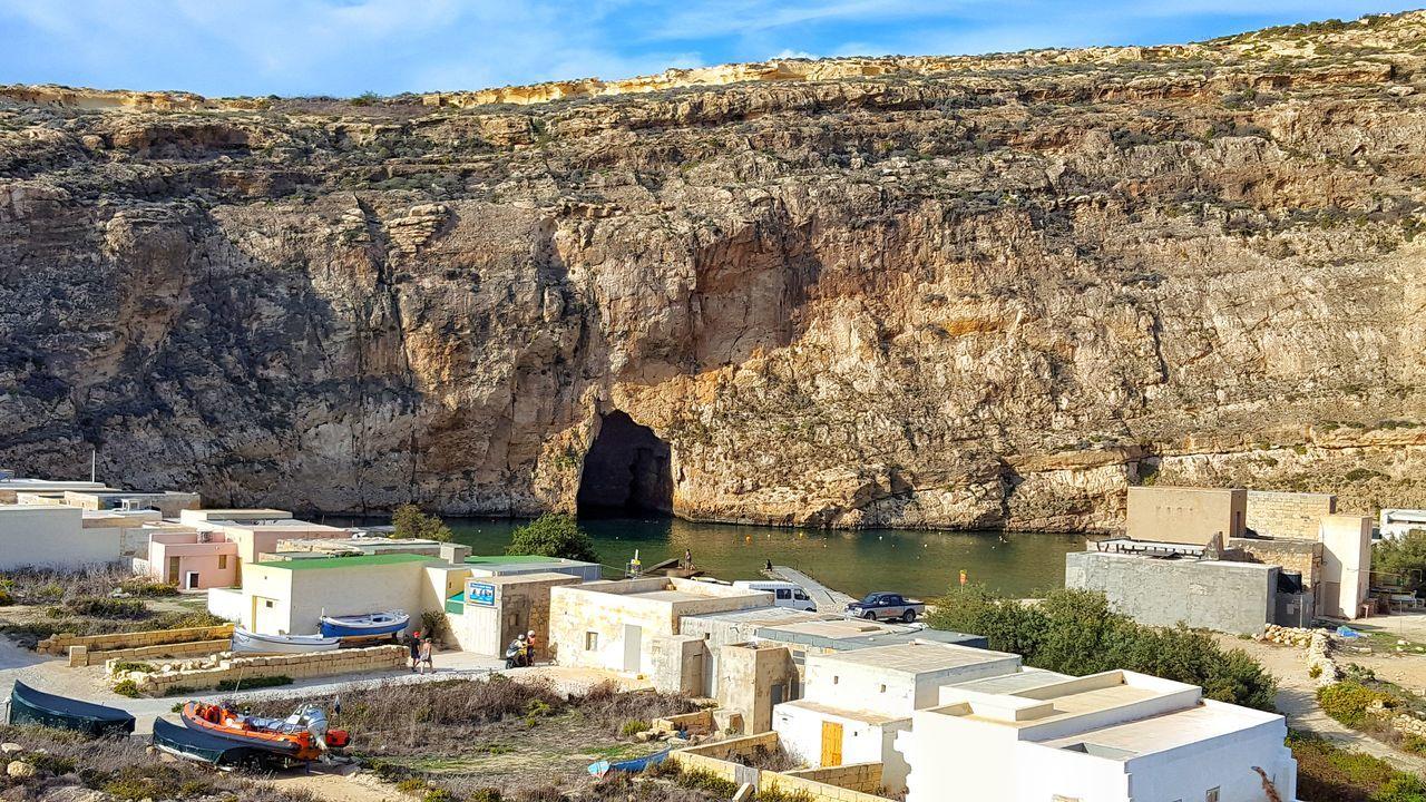 Gozo Island Gozo, Malta Cave Pueblo De Pescadores Cueva