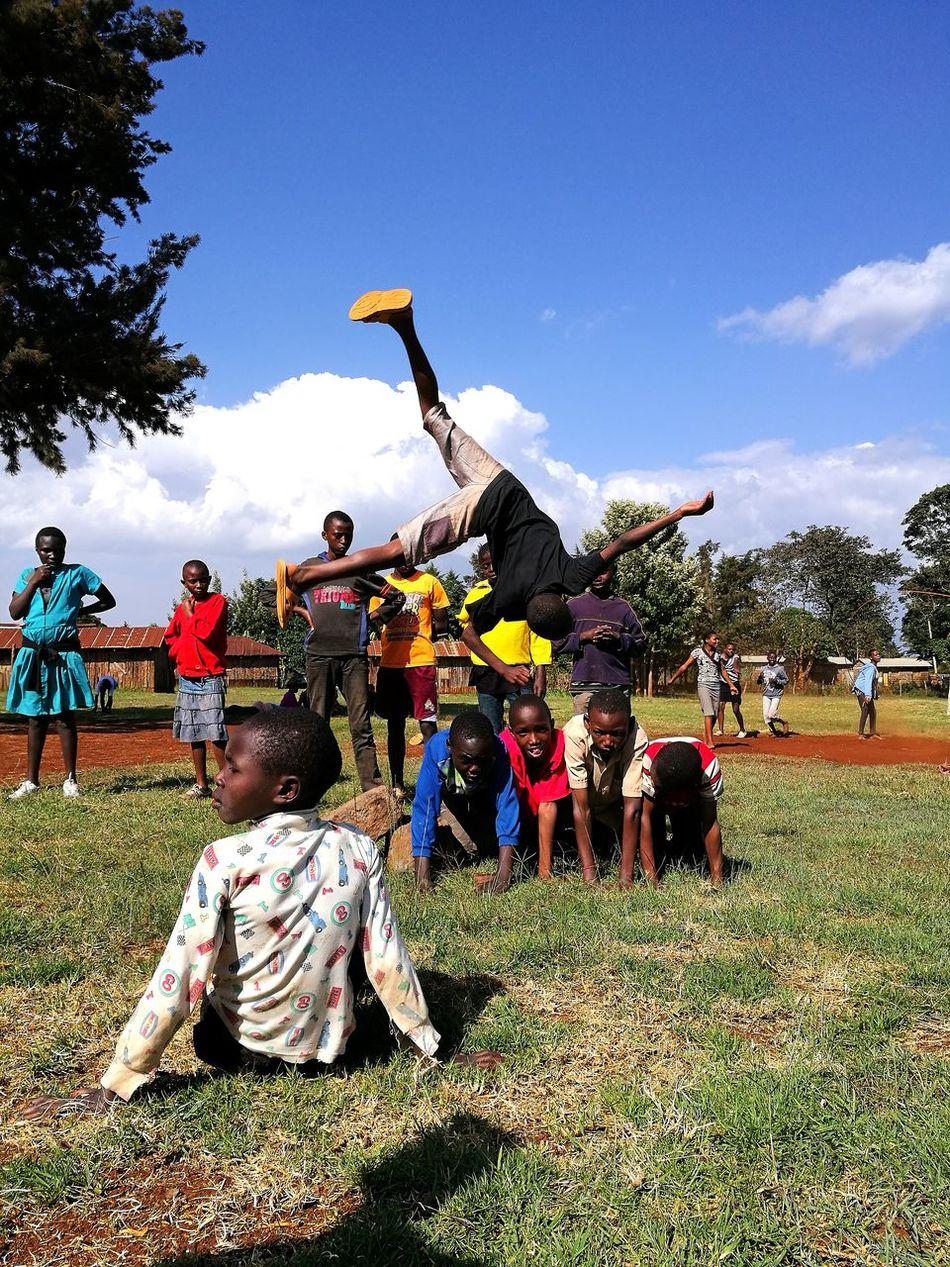 Kids from tumaini childrens home Outdoors Kenya Smiling Kids Playing