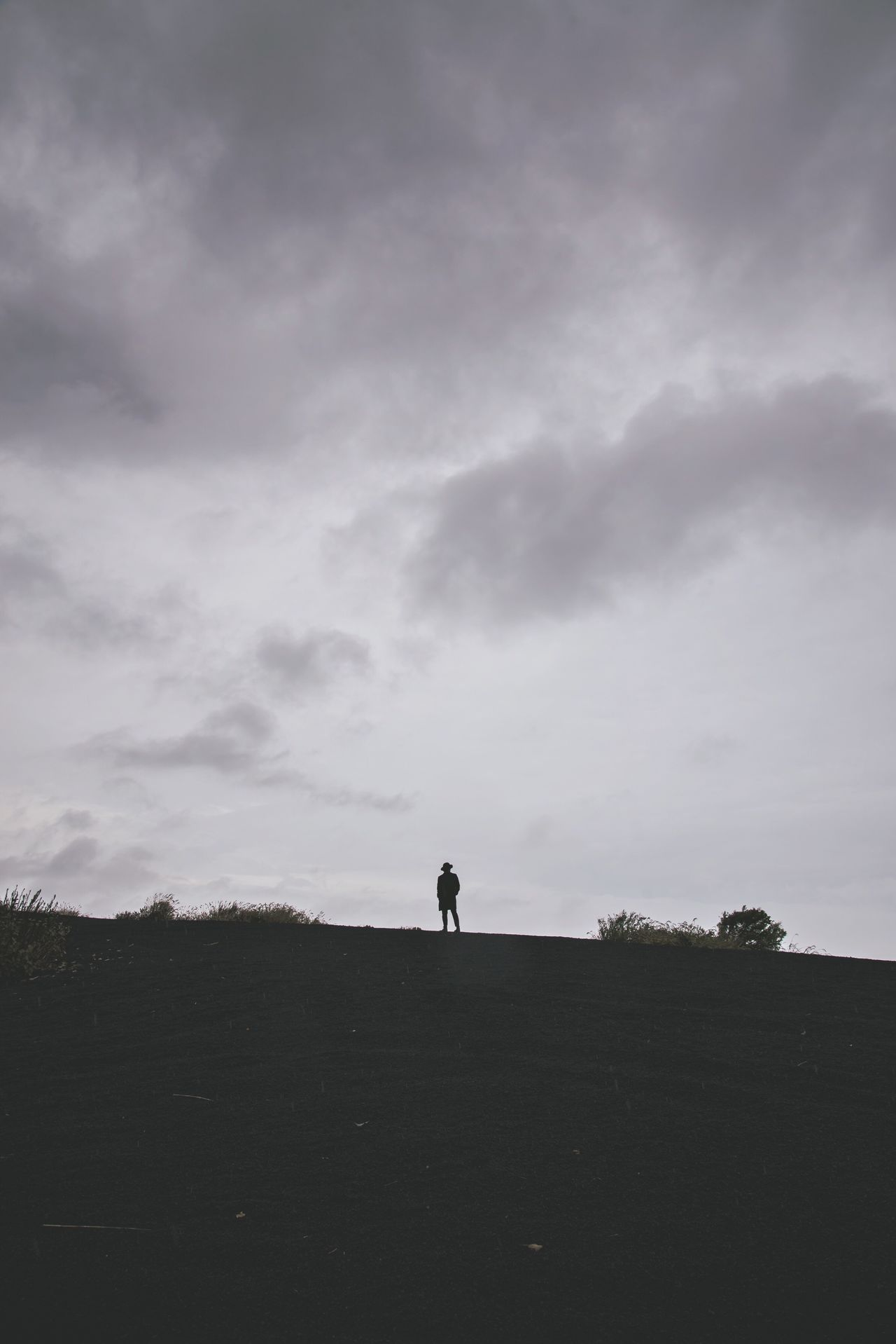 Tiny man One Person Landscape Nature One Man Only Minimalism Minimalist Minimal Traveling Cloud - Sky Real People Full Length Outdoors Men