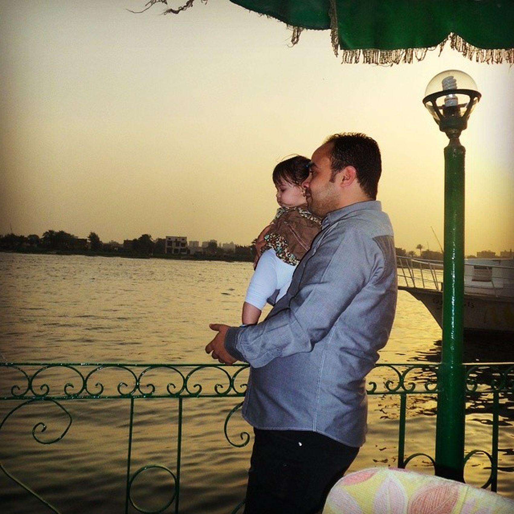 Rawda My Niece  Kid baby girl cute kids nile Egypt cairo sunset brother
