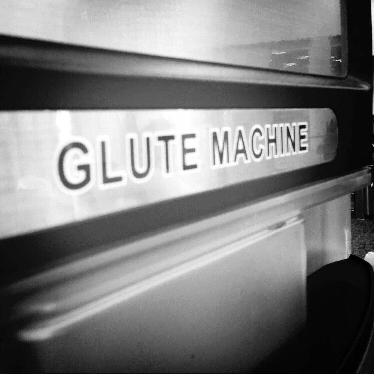 Gym Workout Glute Black & White