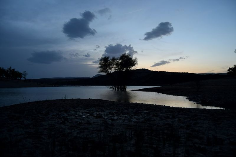 Lake Dark Clouds Nature Sunset_captures Sunset Night Fall Trees Walk Blue Photography Photographer Landscape Water Mountains Sky Picoftheday Photooftheday Summer