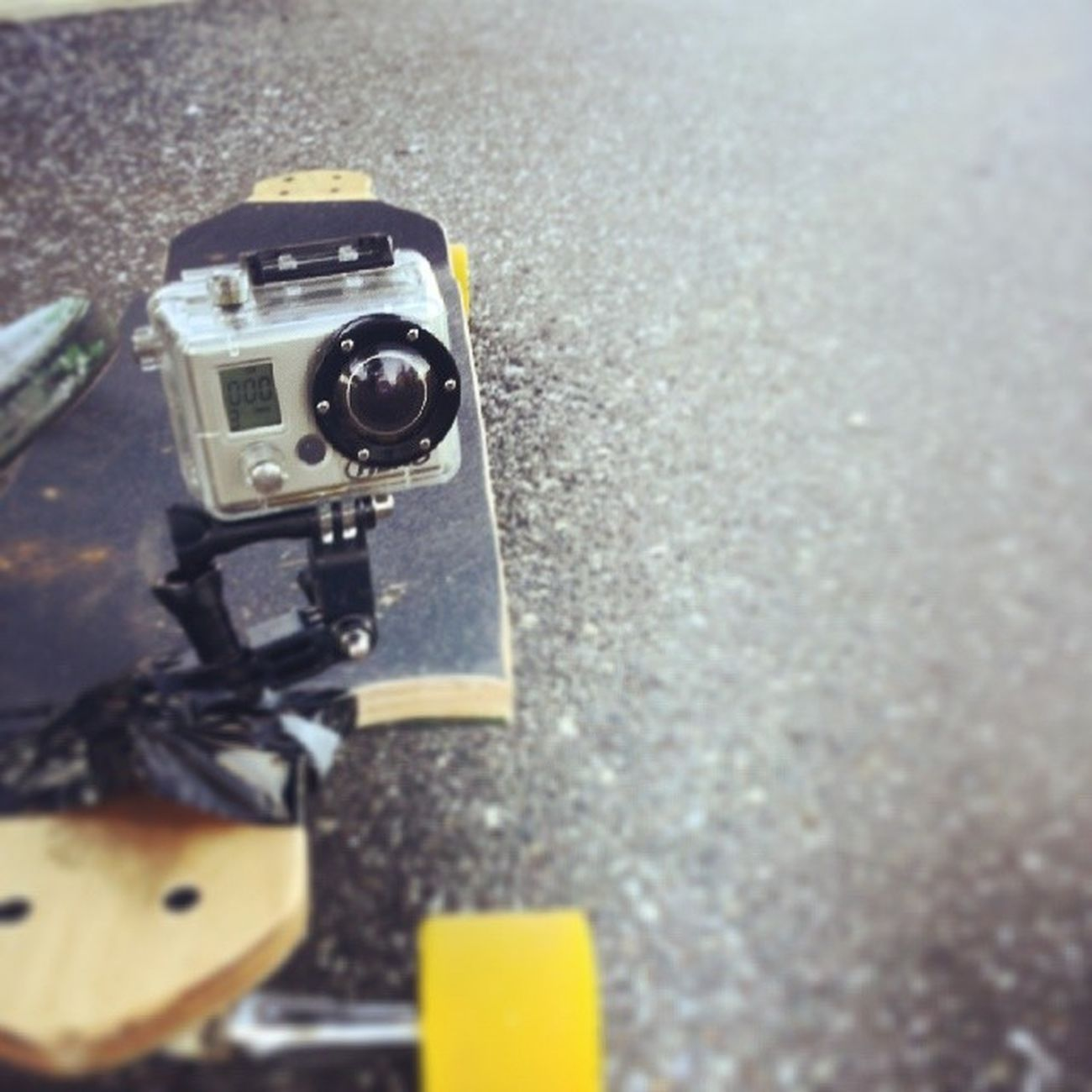 Got the Go Pro mounted for some downhill film DOPE Longboarding GoLongboarding Gopro