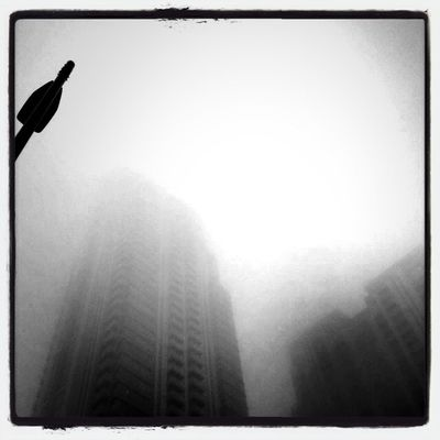 foggy morning in City of London by drowned in caffeine