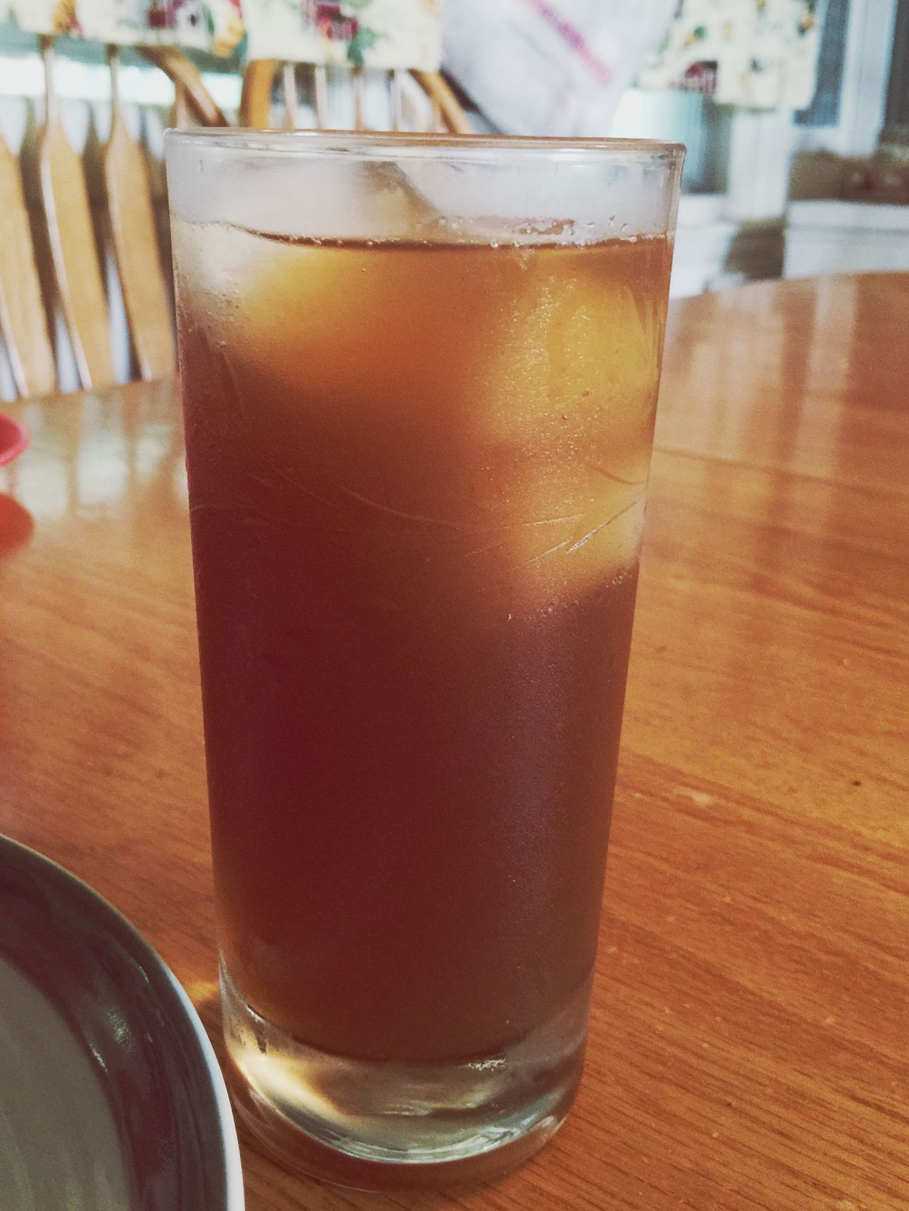 Tall glass of homemade sweet tea Hot Summer Day Sweet Tea Ice Glass Cold Yummy Drinking