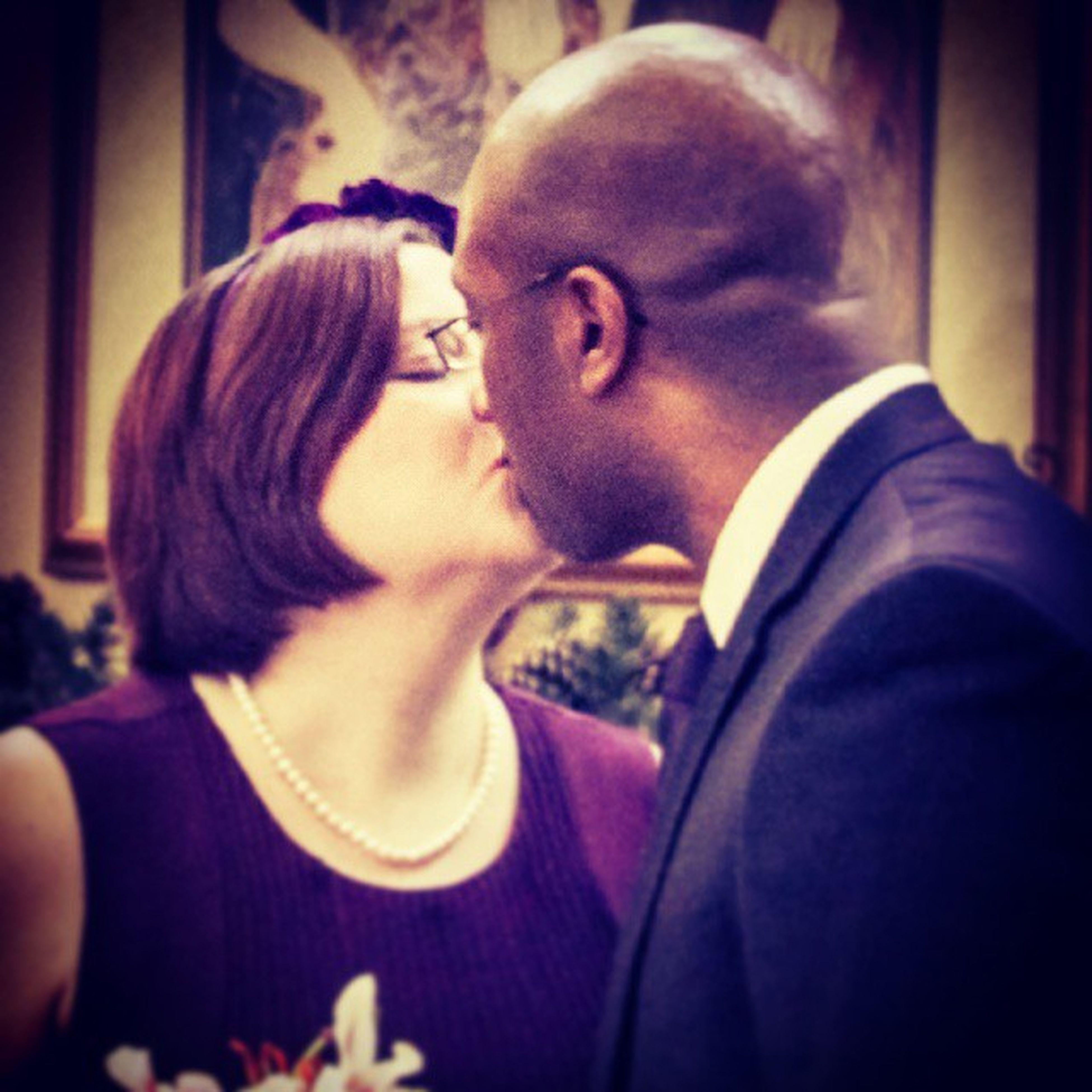 Celebrating another year of wedded bliss to my handsome husband! Happy Anniversary TeamPinnock TBT  Anniversaries Weddings firstkiss unforgettableinstagram