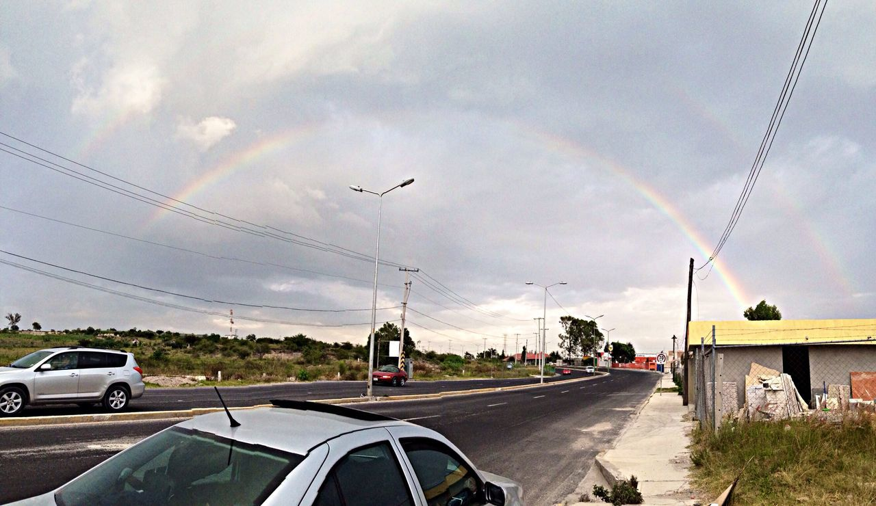 Doble arcoiris !! ??? Naturaleza Arcoiris Cielo Hanging Out Clouds And Sky On The Road Taking Photos Rainbow Nature Walking around Walking Around