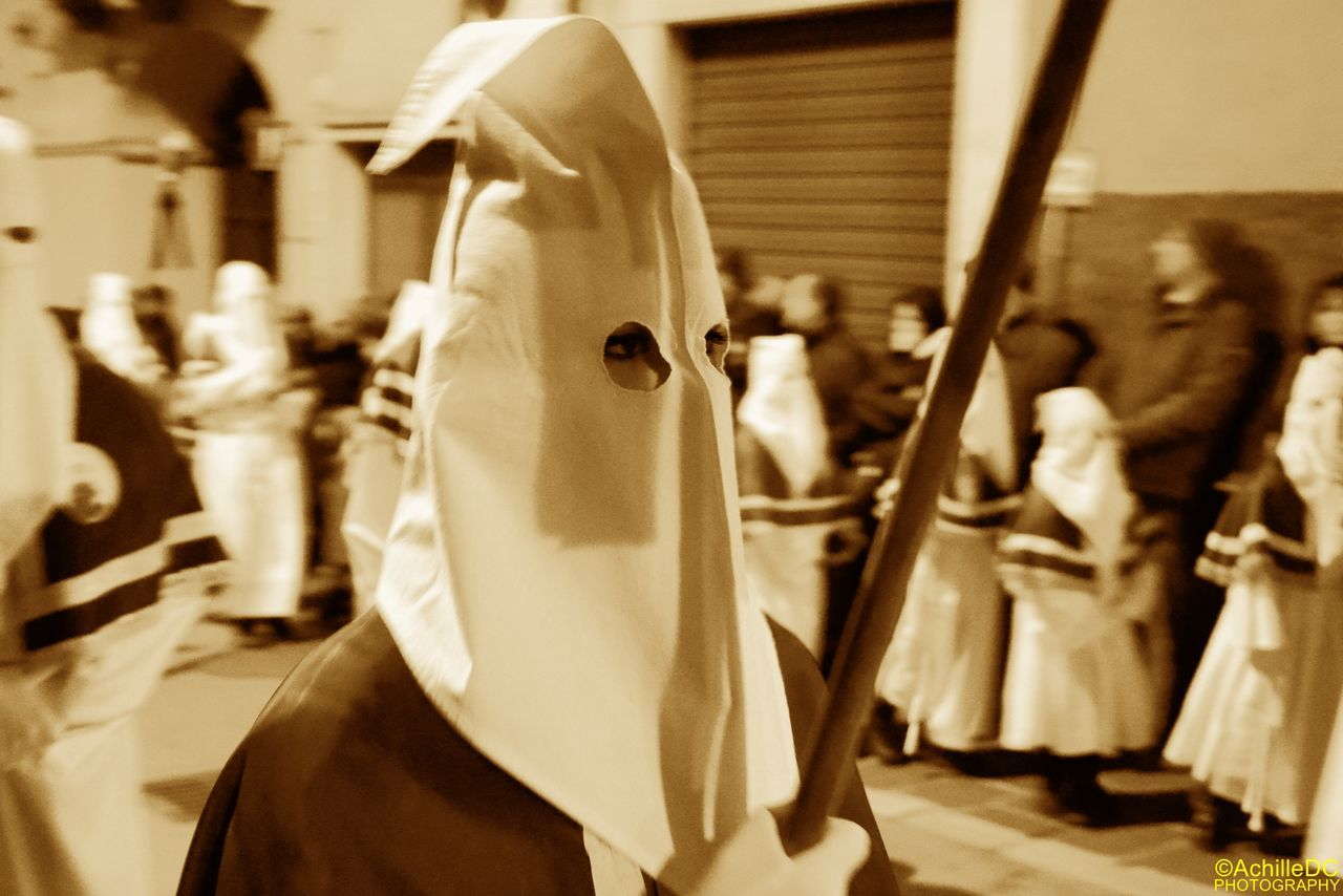 Chieti Good Friday Procession Hooded Italy Religion Religiuos Traditions Spirituality Tradition