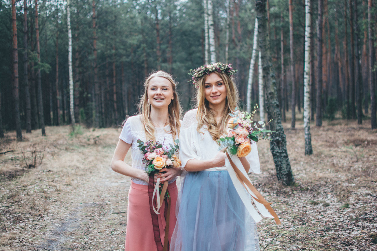 Beautiful stock photos of wald, friendship, young adult, beauty, happiness