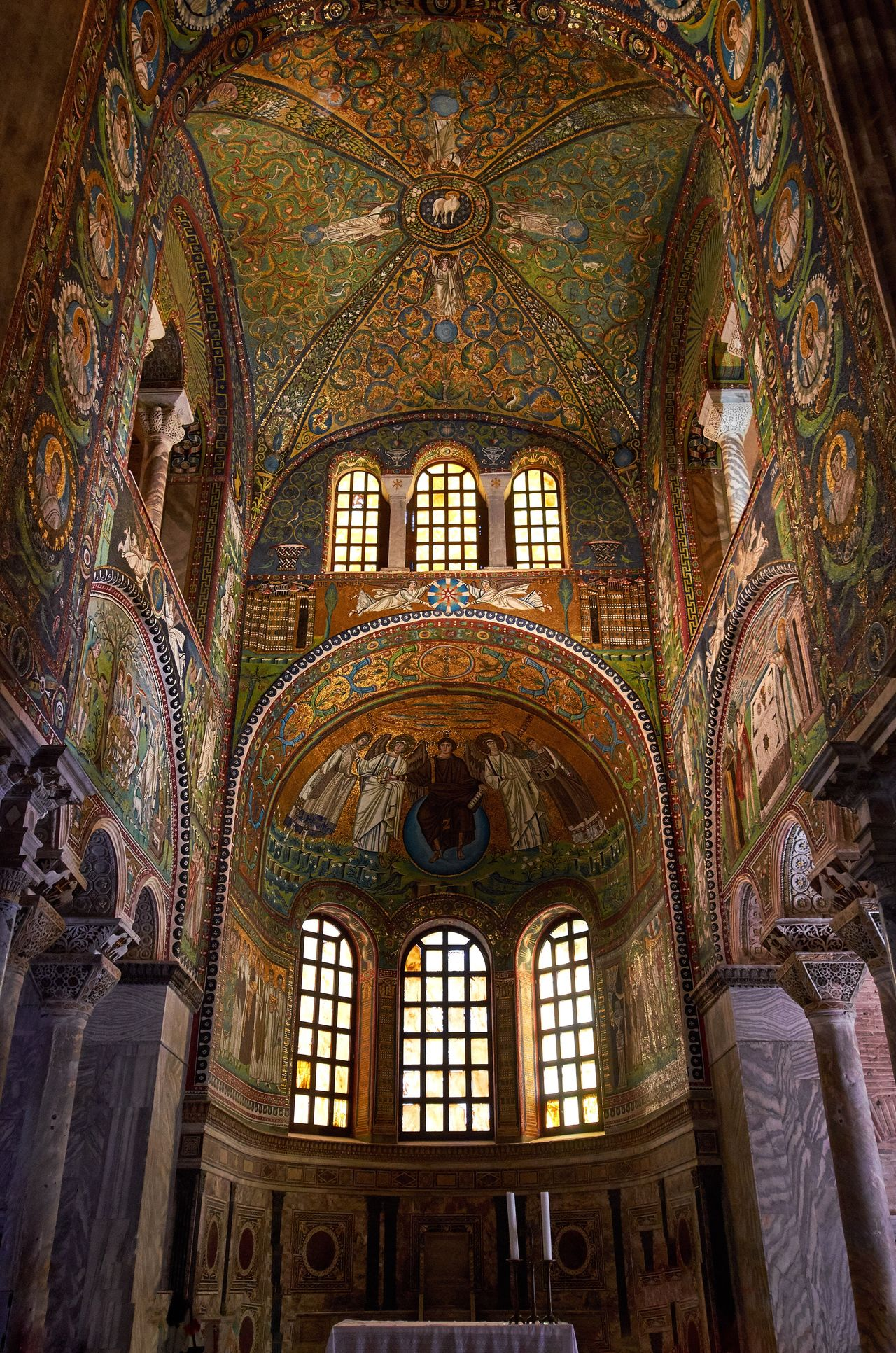 Basilica of San Vitale, Ravenna Lookingup Architecture And Art Indoors  Interior No People Byzantine Architecture Byzantine Medieval Architecture Medieval Architecture Historical Building Historic Catholic Place Of Worship Church San Vitale Basilica Italy Ravenna Low Angle View World Heritage Religious Architecture Ceiling Travel Destinations Fresco
