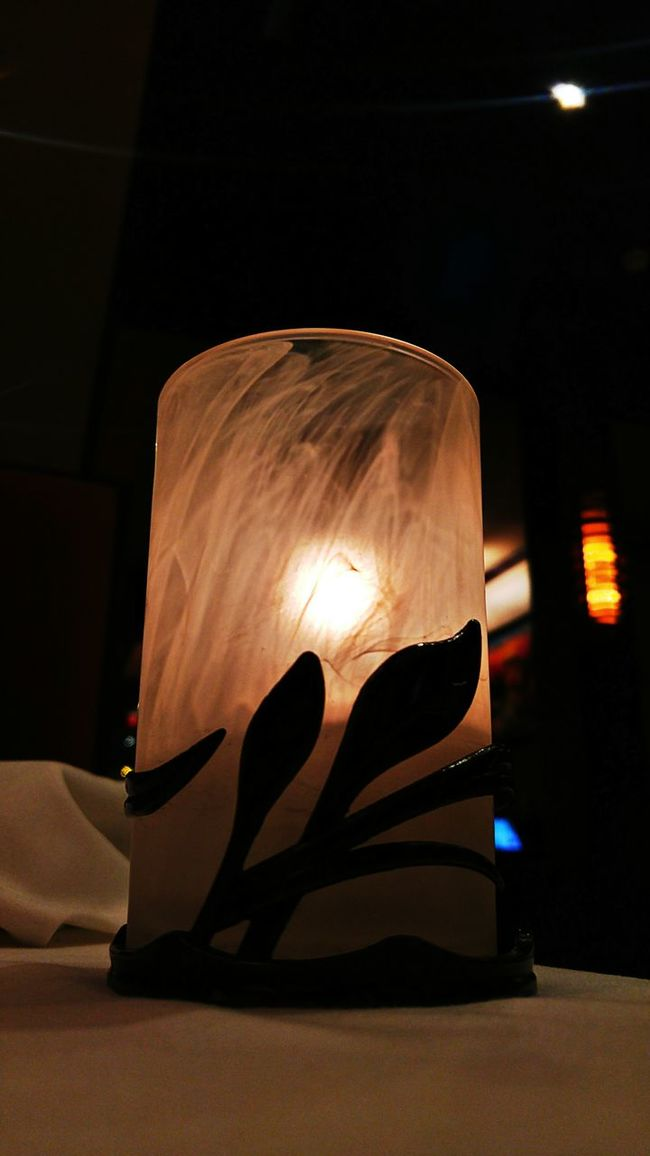 In the light... Candle Candle Flame Candlelight Fancy Dinner At The Restaurant Lighting Decoration