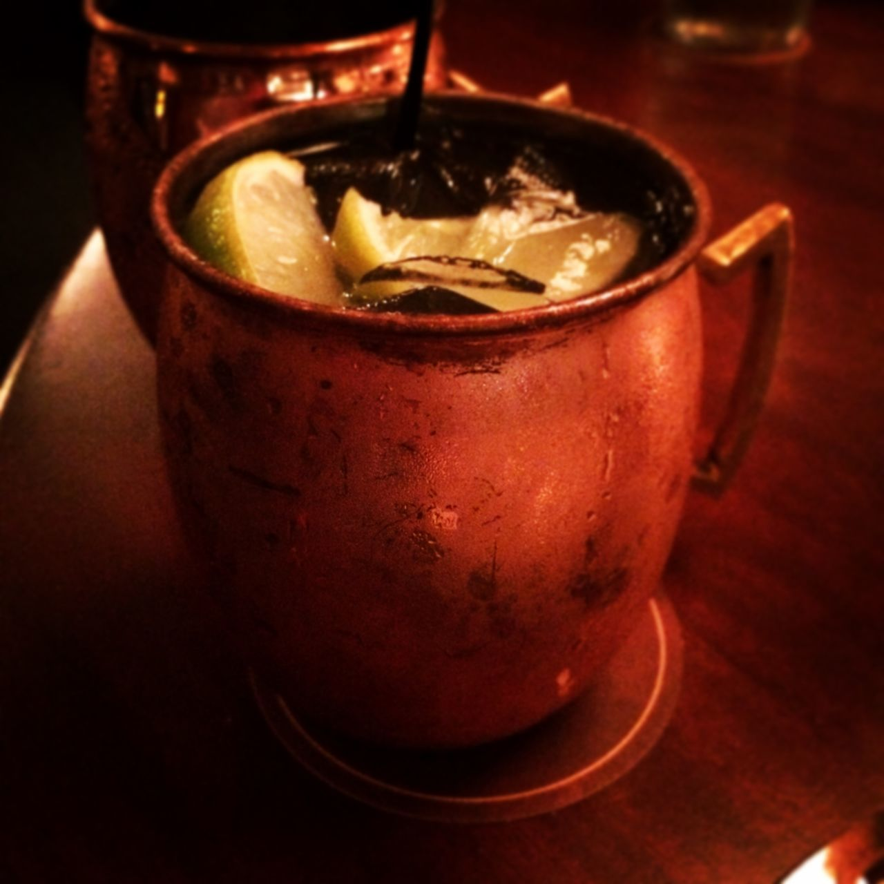 Moscow Mule Cocktail Vodka Copper Mug