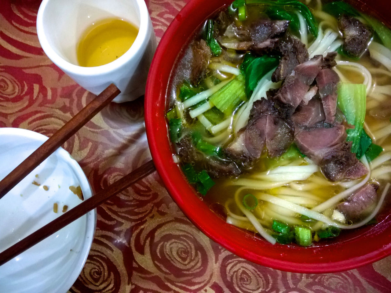 food and drink, ready-to-eat, bowl, food, noodles, indoors, serving size, meat, freshness, close-up, no people, plate, soup, chopsticks, healthy eating, meal, day