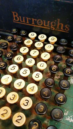 Close-up Antique Adding Machine Old-fashioned Vintage❤
