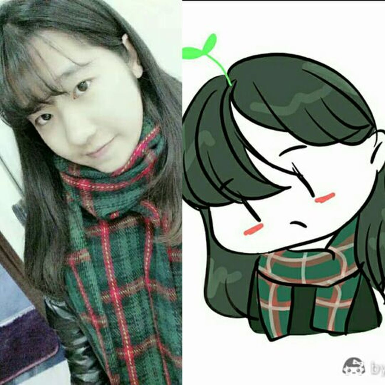 My picture & My cartoon picture ♡So cute cartoon character ~ Cuteeee♥♡♥ Cartoon Characters Funny Faces