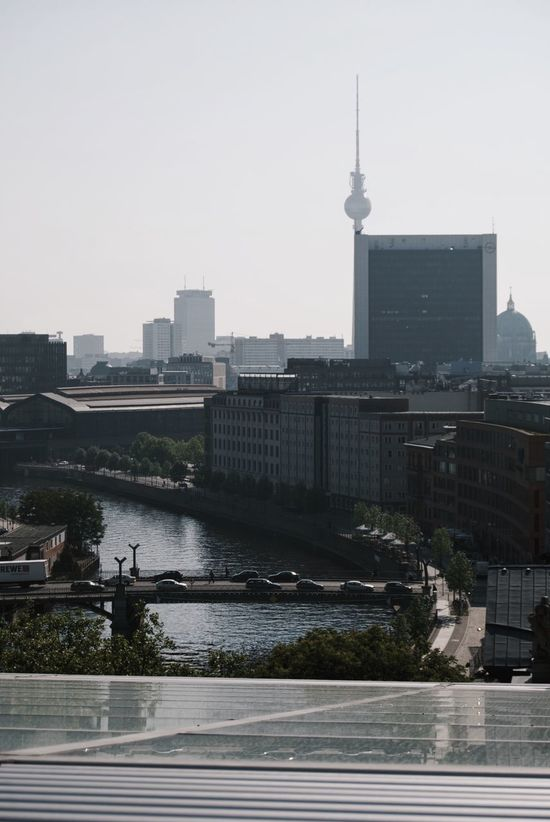 Battle Of The Cities Berlin Bundestag City Life Cityscape Famous Place International Landmark Reichstagskuppel Riverbank Tower