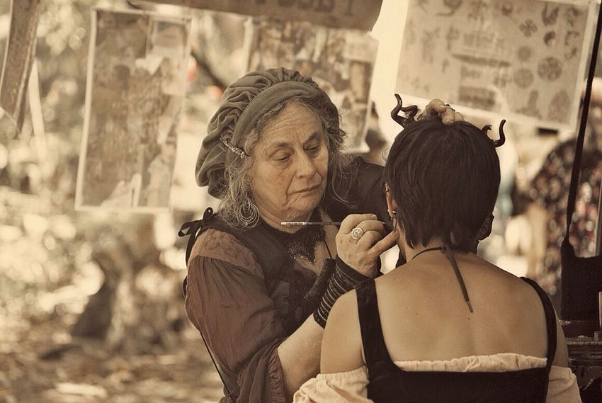 Face painting, Renaissance style. Portrait People Watching Eye For Photography Hello World